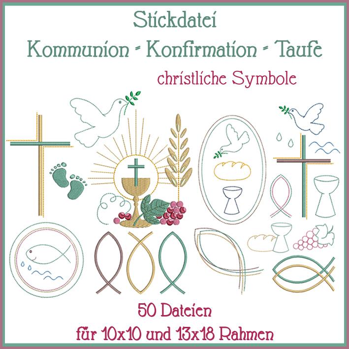 Christliche Symbole Stickdatei - Rock-Queen Stickdateien