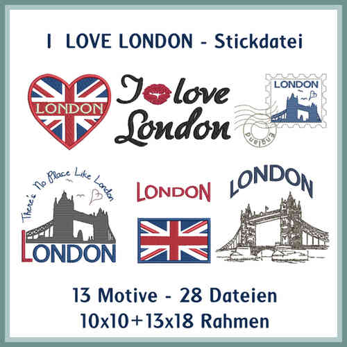 London Love Stickdatei