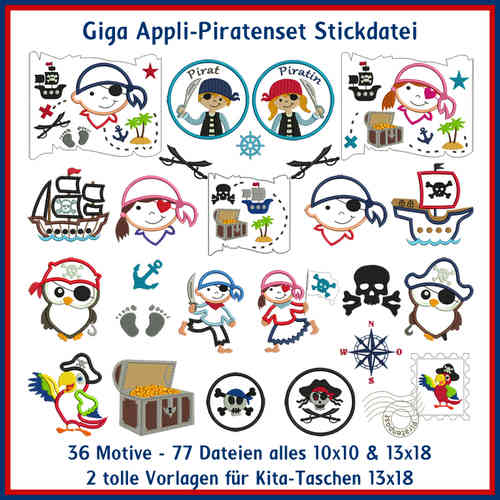 Pirates applique giga set