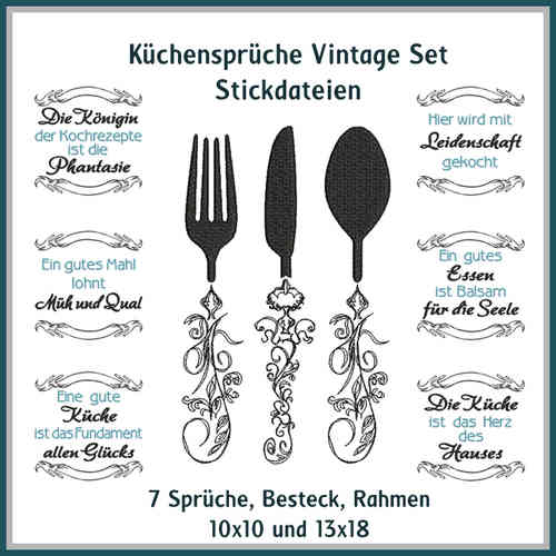 Kitchen sayings vintage set