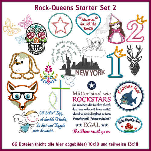 Rock Queens starter set2 embroideries
