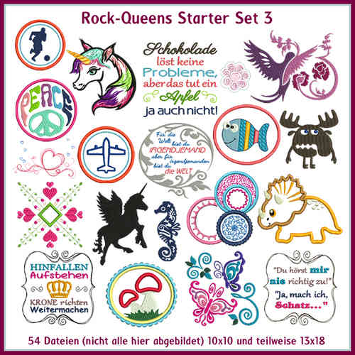 Rock Queens starter set3 embroideries