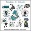 Skateboard Set Stickdatei