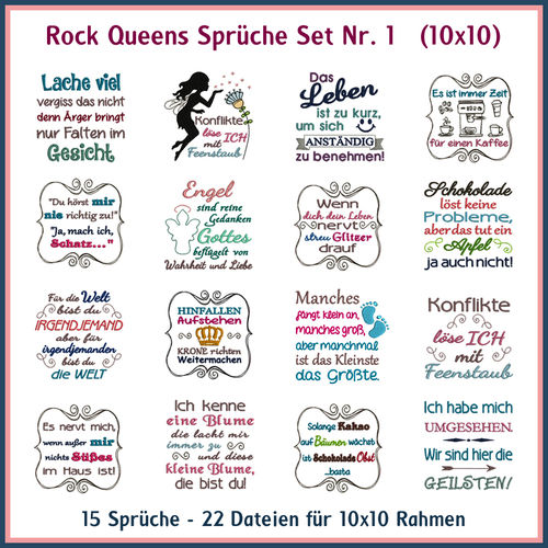 Rock Queens Sprüche Set 01