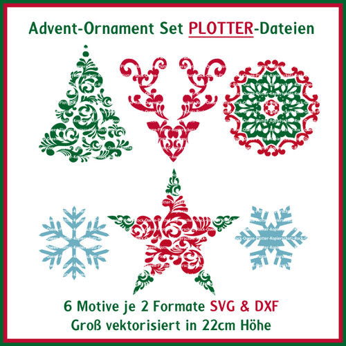 Plotterdatei Advent Ornament