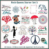 Rock-Queens Starter Set5 Stickdateien