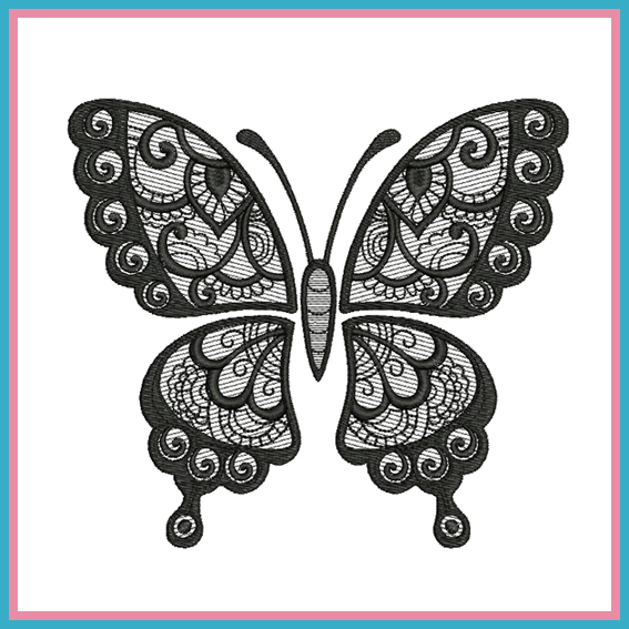 stickdatei spitzen schmetterling rock queen embroidery. Black Bedroom Furniture Sets. Home Design Ideas