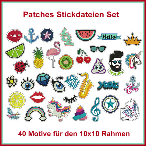 Patches Patch Aufnäher Stickdatei