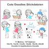 Cute doodles embroidery Set