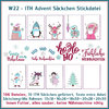 W22 ITH Advent Saeckchen Stickdatei