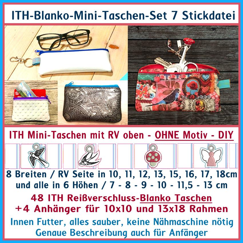 ITH-Blanko-Mini-Taschen-Set Nr 7 Stickdatei - Rock Queen