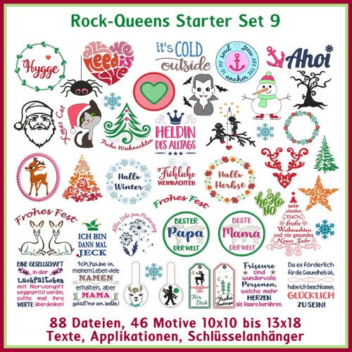 Rock Queens beginner set9 embroideries
