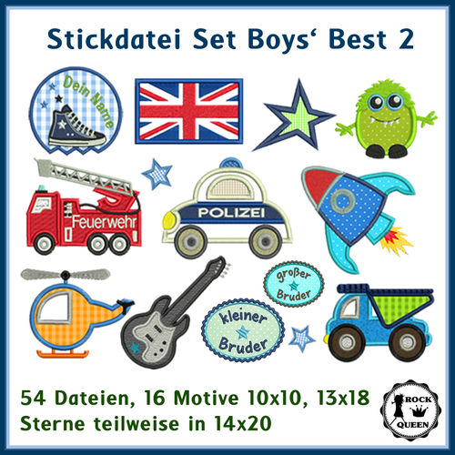 Boys Best 2 Stickdatei