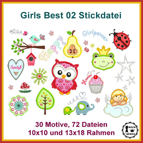 Girls best 2 embroidery