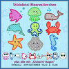 cute sea animals embroidery