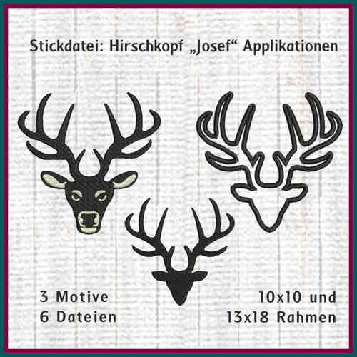 Deer head Josef embroidery