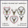 Deer head Karl frames set embroidery