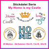 My home is my castle set embroidery