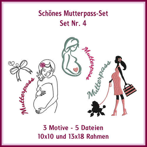 Set-no.4 mom-passport Mamamia embroidery