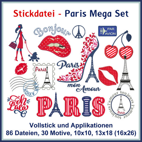 Paris appliques set Rock-Queen embroidery