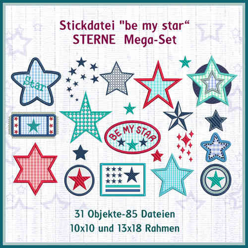 Stars giga-set embroidery