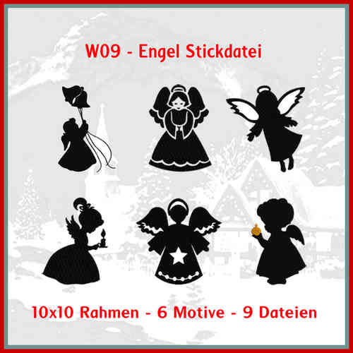 W09 - Engel Stickdatei