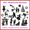 W10 Winter Kinder Stickdatei Weihnachten Schnee Schlitten Winter Kids