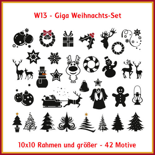 W-13 Giga Christmas set Embroidery
