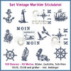 Vintage maritime embroidery