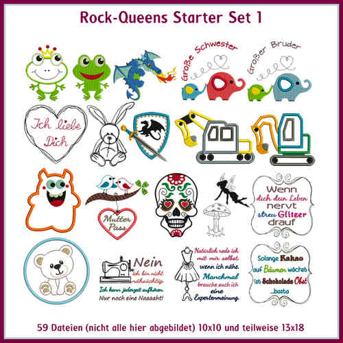Rock-Queens Starter Set 1 Stickdateien Starter 1