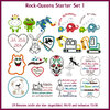 Rock-Queens starter set1 embroideries