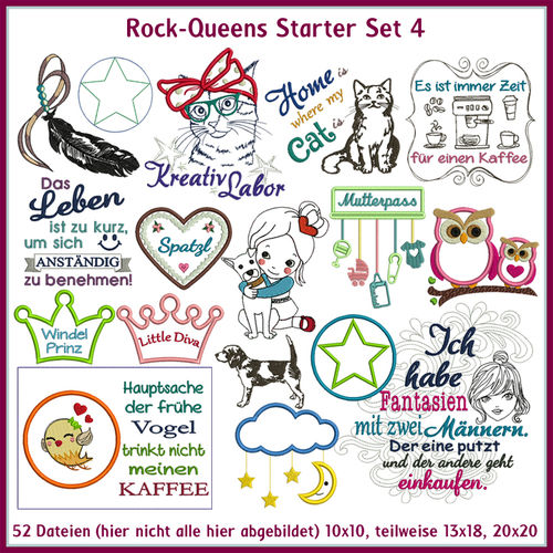 Rock-Queens Starter Set 4 Stickdateien Starter 4