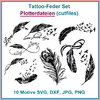 Plotterdatei Tattoo Feder cutting Set cutflies feather