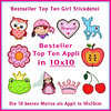 Bestseller Top Ten Girl 4x4 inch embroidery set