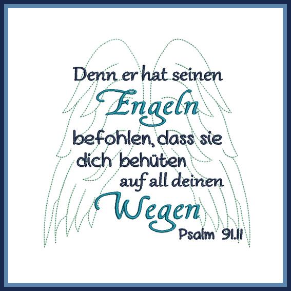 sprüche über engel Stickdatei Spruch Psalm Engel   Rock Queen sprüche über engel