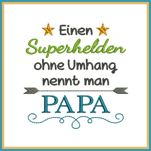 phrase superhero dad embroidery