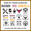 Plotterdatei Griller Set 1 cutfile BBQ Barbecue Grill