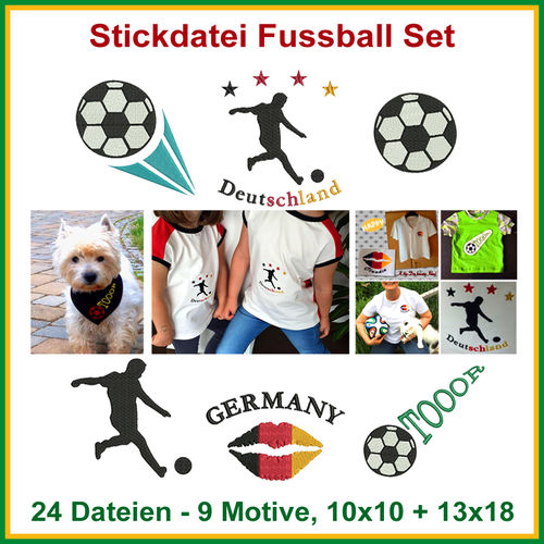 Soccer set embroidery