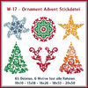 W17-ornament advent tree star christmas embroidery files