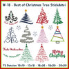 W18 Best of Christmas Trees Stickdatei Weihnachtsbaum Christbaum