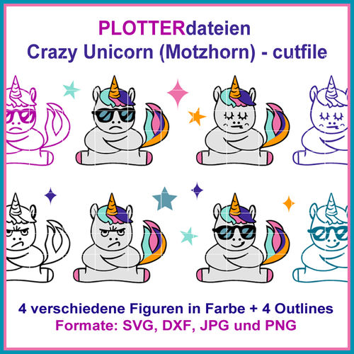 Cut-file crazy Unicorn