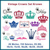 Vintage Crowns Stickdatei Kronen Set