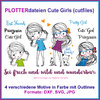 Plotterdatei Cute Girls Cutting Set cutfiles cute girls