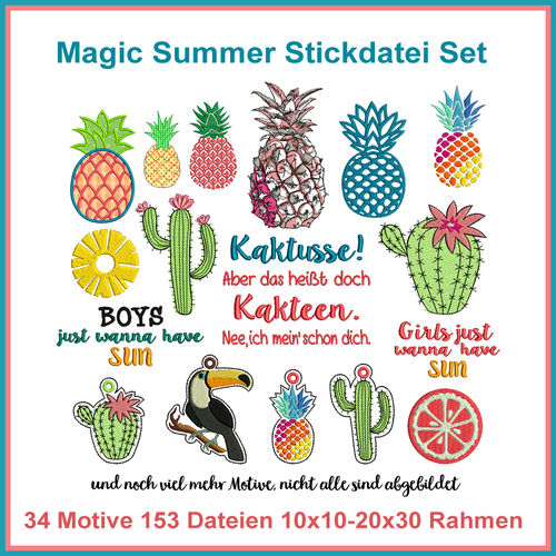 Magic Summer Embroidery File Set