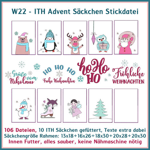 W22 ITH Advent bad enbroidery Set