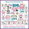 Lama Embroidery Set