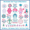 Embroidery files set yoga meditation and esoteric sayings and symbols set