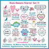 Rock Queens beginner set11 embroideries