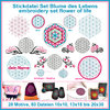 Embroidery file set flower of life yoga feng shui